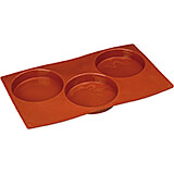 Non-stick Silicone Mold, Biscuit, Sheet Of 3