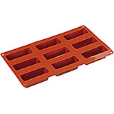 Non-stick Silicone Mold, Rectangular, Sheet Of 9