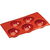 Non-stick Silicone Mold, Hemispheric, Sheet Of 5