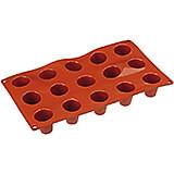 Non-stick Silicone Mold, Mini Baba, Sheet Of 15