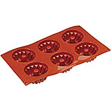 Non-stick Silicone Mold, Kugelhopf, Sheet Of 6