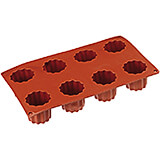 Non-stick Silicone Mold, Canele, Sheet Of 8