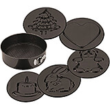 Steel Non-stick Springform Pan W/ 6 Imprint Designs, 10.25""