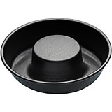 Black, Steel Non-stick Savarin Mold, 2.5""