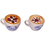 Plastic Cappuccino Coffee Stencils, Assorted Nature Figures, 10/PK