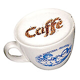 Plastic Cappuccino Coffee Stencils, Assorted Fun Figures, 10/PK