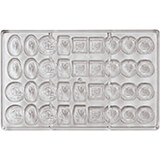 Polycarbonate Chocolate Mold, 4X9 Imprints, 3""