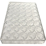 Polycarbonate Chocolate Mold, Center Swirl