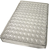 Polycarbonate Chocolate Mold, Divided Nut
