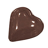 Polypropylene Chocolate Mold, Heart, 1.25""