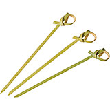 "Disposable Knotted Bamboo Skewers, 4.13"", 200/PK"