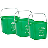 Green, ABS 3 Qt. Cleaning Bucket / Pail, 3/PK