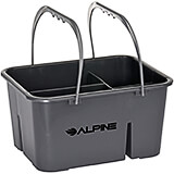 Gray, ABS Plastic Cleaning Caddy, 4-Compartment
