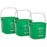 Green, ABS 6 Qt. Cleaning Bucket / Pail, 3/PK