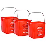 Red, ABS 6 Qt. Cleaning Bucket / Pail, 3/PK