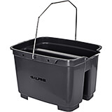 Gray, ABS 19.5 Qt. Divided Plastic Bucket / Caddy
