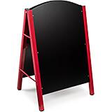 Red, Metal A-Frame Floor Standing Marker MDF Board Sign