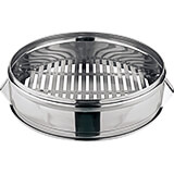 Stainless Steel Large Dumpling Steamer - Base Only, 20""