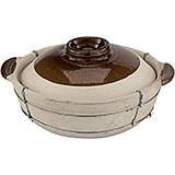 Earthenware 12 Qt. Dual-handled Clay Pot for Cooking, 11""