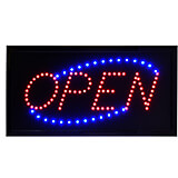 """Black, Mdf LED Open Sign with PVC Frame, Square, 19"""" X 10"""""""