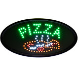 """Black, ABS LED Pizza Sign, Oval, 23"""" X 14"""""""