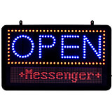 Black, ABS LED Open Programmable Sign