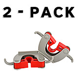 Red, Metal Mop and Broom Holder, 1 Holder and 2 Hooks, 2/PK
