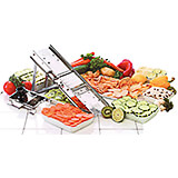 Stainless Steel Mandoline Slicer Set, 38 Blades and Pusher