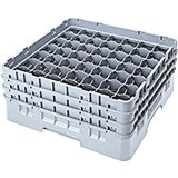 "Soft Gray, 49 Comp. Glass Rack, Full Size, 3-5/8"" H Max."