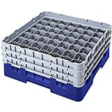 "Navy Blue, 49 Comp. Glass Rack, Full Size, 3-5/8"" H Max."