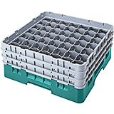 "Teal, 49 Comp. Glass Rack, Full Size, 3-5/8"" H Max."