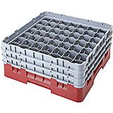 "Cranberry, 49 Comp. Glass Rack, Full Size, 3-5/8"" H Max."