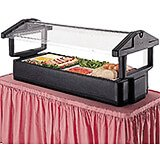 Black, 4ft Table Top Food Bar with Sneeze Guard