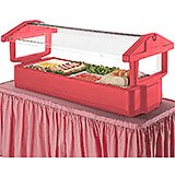 Hot Red, 4ft Table Top Food Bar with Sneeze Guard