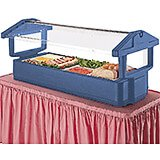 Navy Blue, 4ft Table Top Food Bar with Sneeze Guard