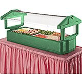 Green, 6ft Table Top Food Bar with Sneeze Guard