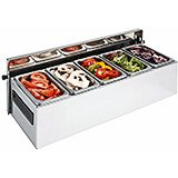 Stainless Steel, 5 Compartment Condiment Caddy, Countertop