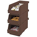 Dark Brown, Condiment Holder Bins, No Rack, 12/PK