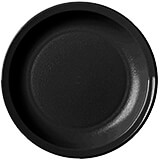 "Black, 5-1/2"" Narrow Rim Plate, Unbreakable Dinnerware, 48/PK"