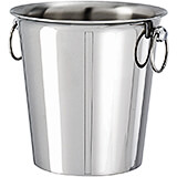 Stainless Steel Wine Bucket, 1/2 Bottle, 7.25""