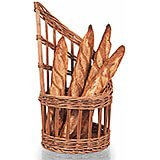 "Wicker Bread Basket, Country-style Design, 11"" Diam."