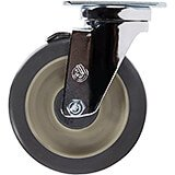 "1-5"" Swivel w/Brake Caster, 4-Bolts (60300)"