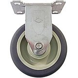 "6"" Fixed Caster, 4-Bolts for Carts, Carriers, Hand Sink Carts, Vending Carts CVC55 and Work Stations"