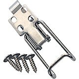 "1-Small Metal Latch, 4- Screws (60315). Screw plate is 0.887"" X 0.887""."