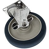 "1-6"" Swivel w/Brake Stainless Steel Caster, 4-Stainless Steel Bolts (60308)"