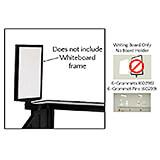 Writing Board Only, 6-Grommets, 6-Grommet Pins for Vending Carts CVC72, CVC724
