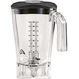 Clear, 64 Oz. Polycarbonate Blender Jar for Fury, Tempest & Summit Series