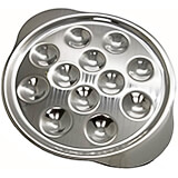 Stainless Steel, Escargot Dish, 12 Compartments, 5/PK