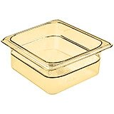"Amber, 1/6 GN High Heat Food Pan, 2 1/2"" Deep, 6/PK"