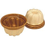 "Earthenware Large Kugelhopf / Bundt Cake Mold, 9"", 2/PK"